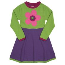 Girls Flower knitted dress