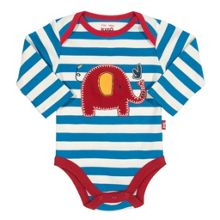 Baby Boys Stripy elephant bodysuit