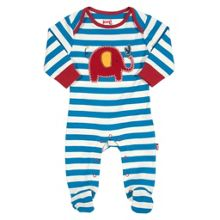 Baby Boys Stripy elephant sleepsuit