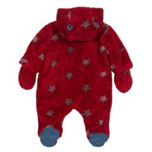 Baby Boys Starry fleece snowsuit