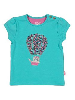 Kite Baby girls Kitty balloon t-shirt