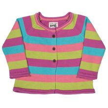 Kite Baby girls Stripy flower cardi