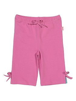 Baby girls Bow cropped leggings