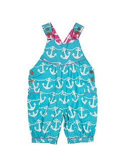 Baby girls Anchor bib shorts