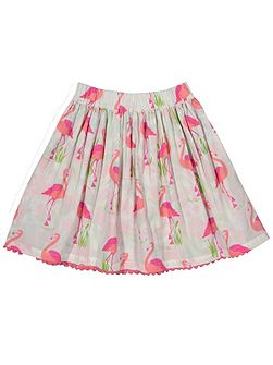 Girls Reversible flamingo skirt
