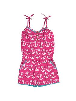 Girls Anchor playsuit