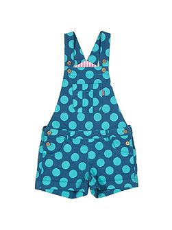 Girls Penny spot dungarees