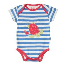 Kite Baby boys Stripy turtle bodysuit