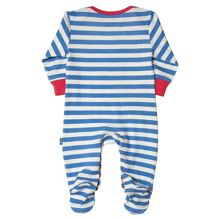 Kite Baby boys Stripy turtle sleepsuit
