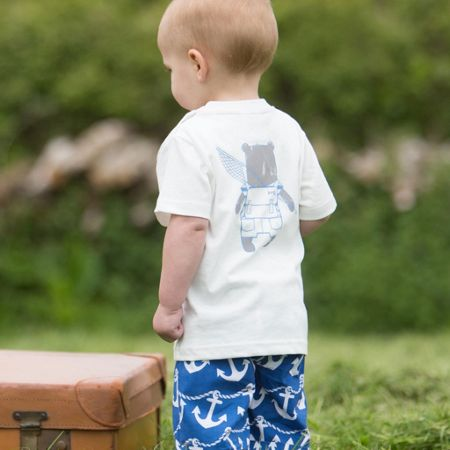 Kite Baby boys Travelling bear t-shirt