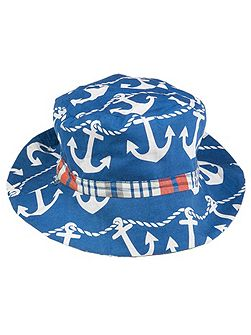Boys Reversible anchor hat