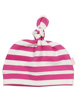 Girls Stripy organic cotton hat