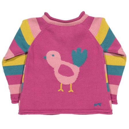 Kite Girls Stripy bird cardi