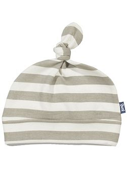 Boys Stripy organic cotton hat