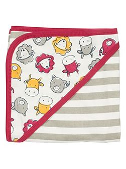 Boys Farmyard organic cotton blanket