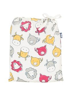 Boys Farmyard organic cotton swaddle
