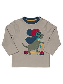 Boys Scooting hound t-shirt