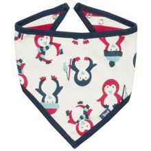 Kite Baby Penguin organic cotton bib