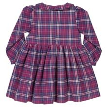 Kite Baby Girls Organic Cotton Check dress
