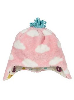 Girls Cloud fleece hat