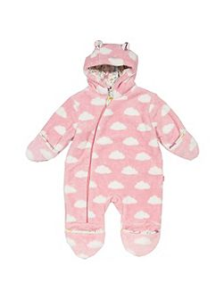 Girls Hooded Cloud Snowsuit