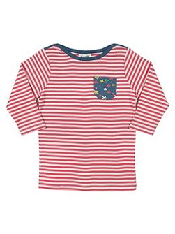 Girls Shore stripe t-shirt
