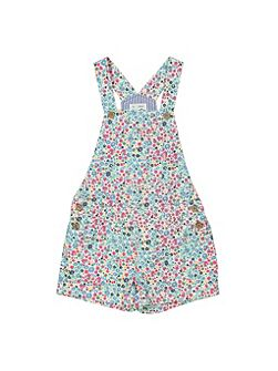Girls Ditsy dungarees