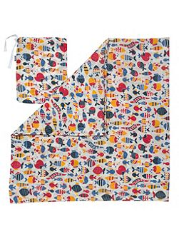 Boys Fishy swaddle
