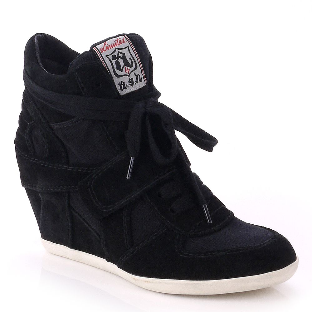 Cool wedge hi top trainer shoes