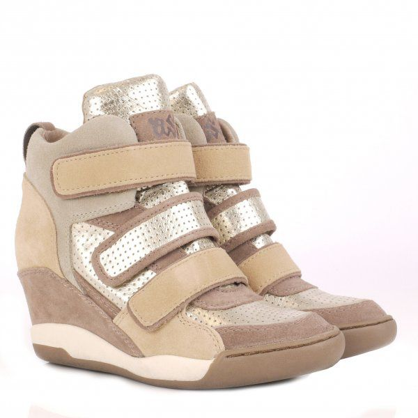 Alex Bis Wedge Hi Top Trainer Shoes