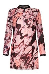 Distorted orchid tunic dress