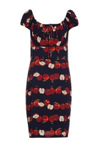 Almost Famous Apple Print Gypsy Dress