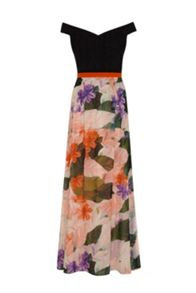 Painted Floral Maxi Dress