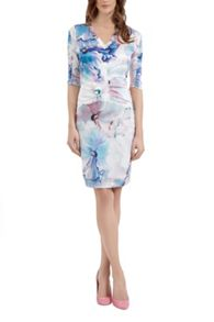 Artistic Floral Silk Dress