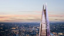 Shard & 2-course dining w Prosecco for 2