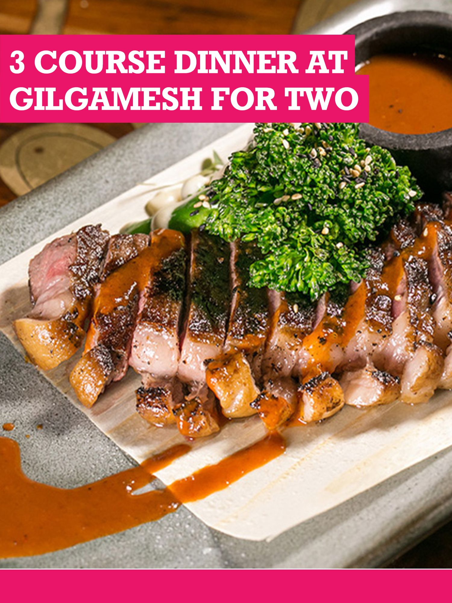Buyagift Buyagift Three Course Dinner At Gilgamesh For Two