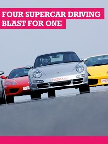 Buyagift Four Supercar Driving Blast with Passenger Ride