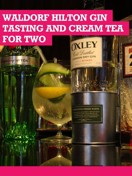 Buyagift Waldorf Hilton Gin Tasting with Cream Tea for 2