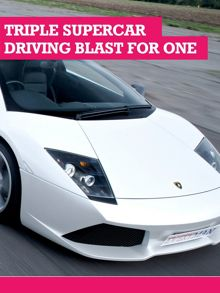 Buyagift Triple Supercar Driving Blast for One