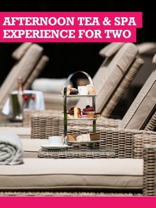 Buyagift Afternoon Tea & Spa Experience for Two