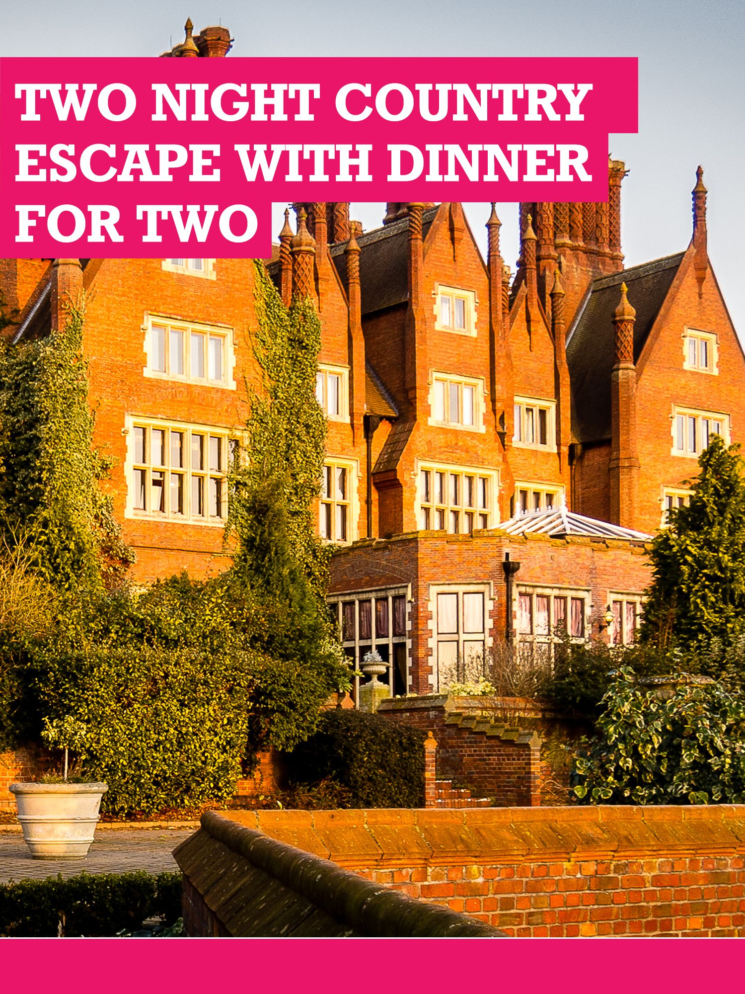 Buyagift Buyagift Two Night Country Escape With Dinner For Two