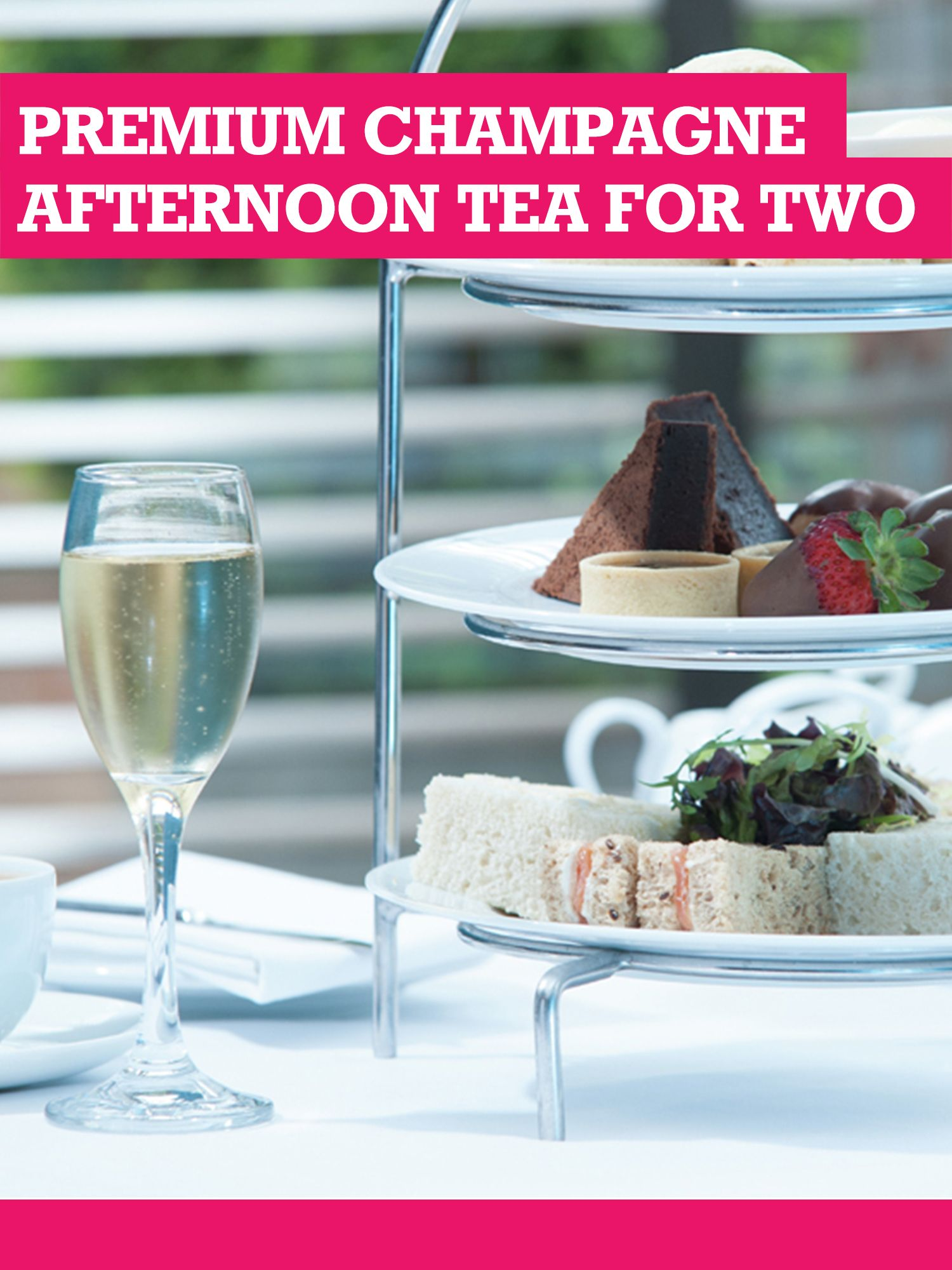 Buyagift Buyagift Premium Champagne Afternoon Tea for Two