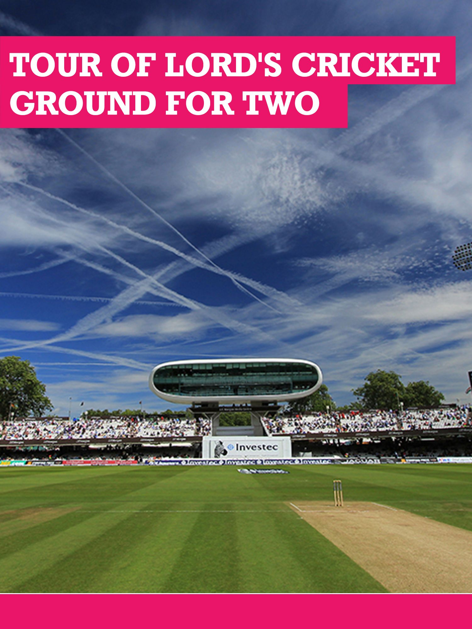 Buyagift Buyagift Tour of Lord`s Cricket Ground with Lunch for Two