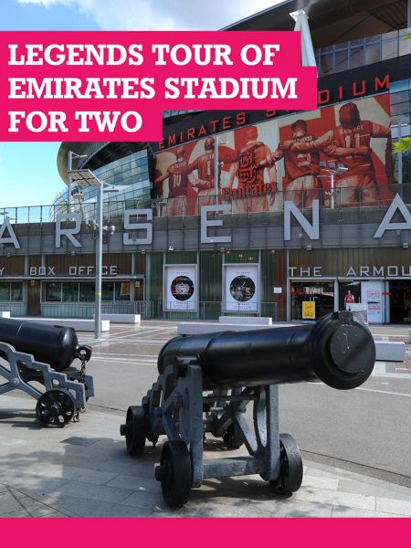 Buyagift Adult Legends Tour of Emirates Stadium for Two