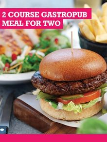 Buyagift Two Course Gastropub Meal with Drink for Two