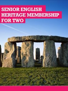 Buyagift Senior English Heritage Membership For Two
