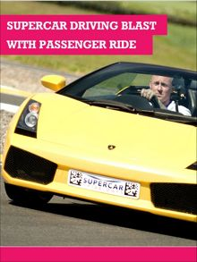 Buyagift Supercar driving blast for 1