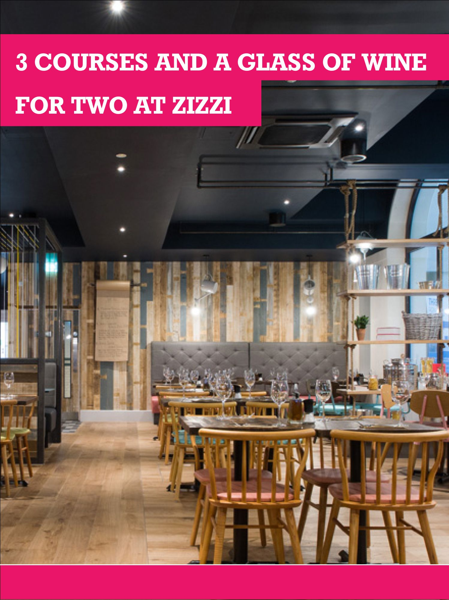 Buyagift Buyagift 3 course meal at zizzi for 2