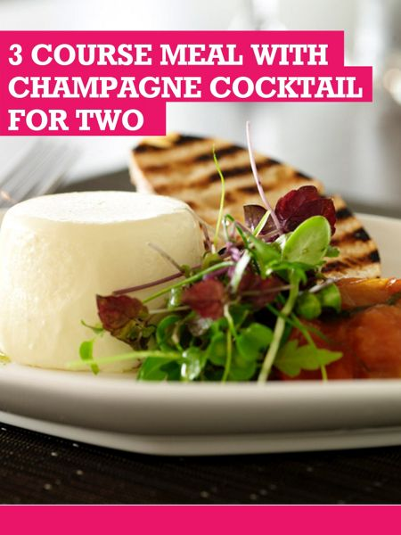 Buyagift 3 Course Dinner With Champagne Cocktail For Two
