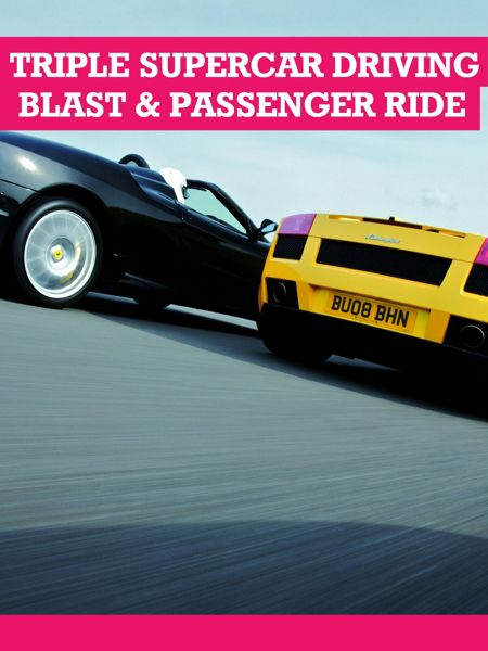 Buyagift Triple Supercar Driving Blast with Passenger Ride